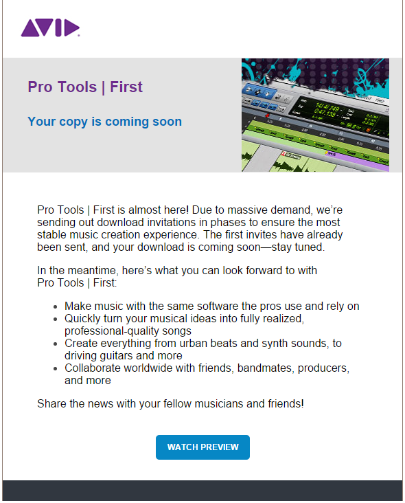 Avid First Coming Soon