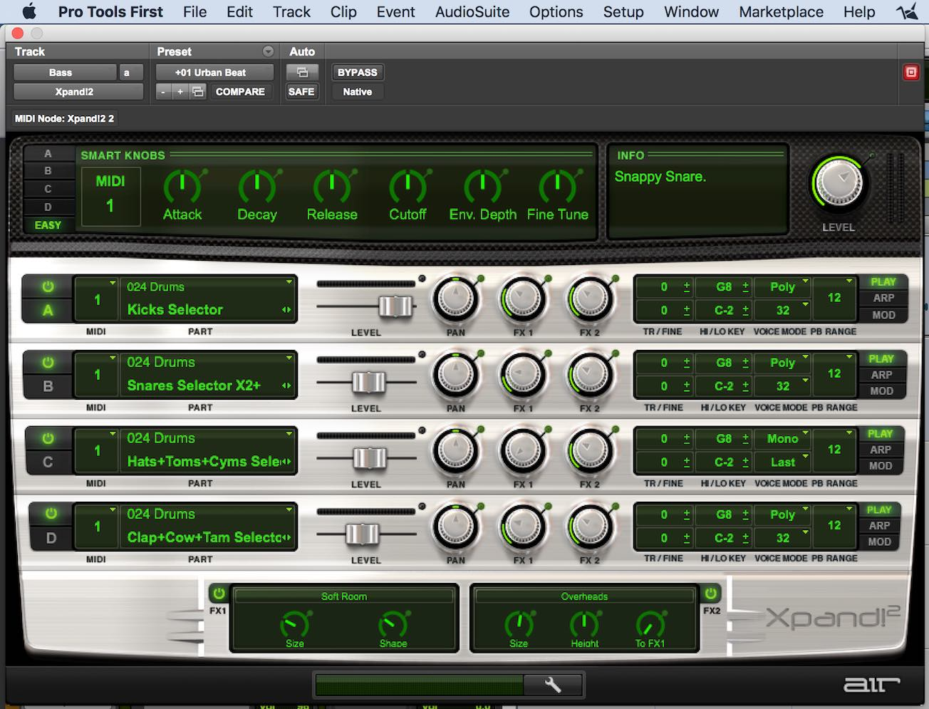 Xpand2 Pro Tools First