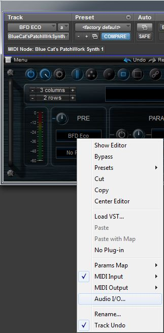Using BFD ECO With Blue Cat's PatchWork In Pro Tools 11