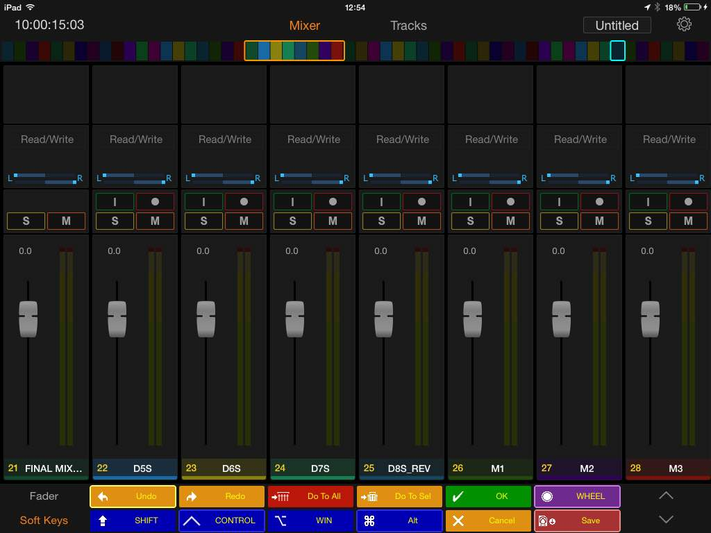 Pro Tools Control - The Mixer Window