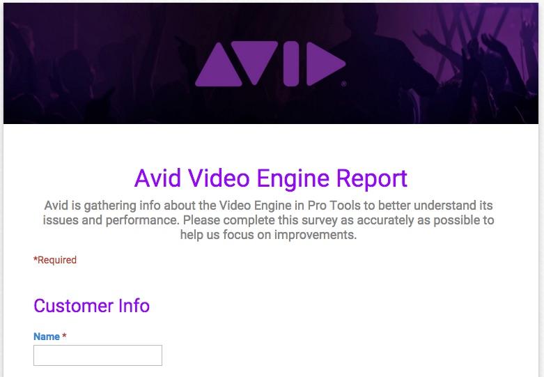 Avid Video Engine — Pro Tools