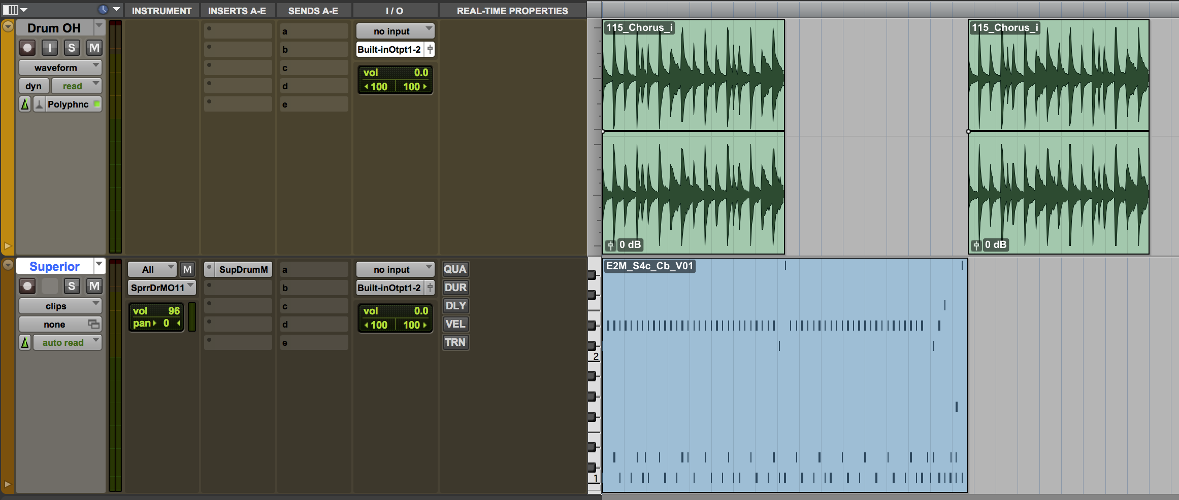 The session in Pro Tools 11.3