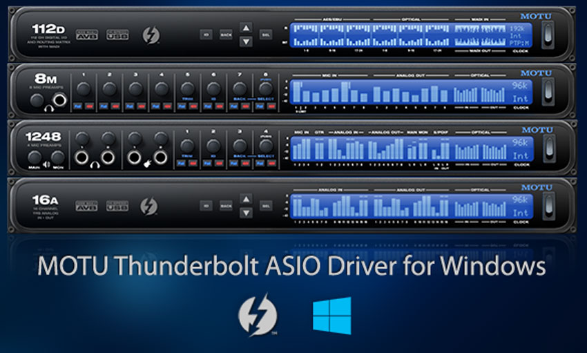 MOTU Announces Thunderbolt ASIO Driver For Windows