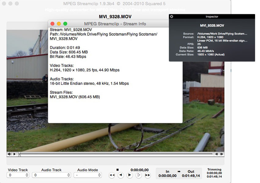 Movie Inspector in QuickTime Player and MPEG Streamclip