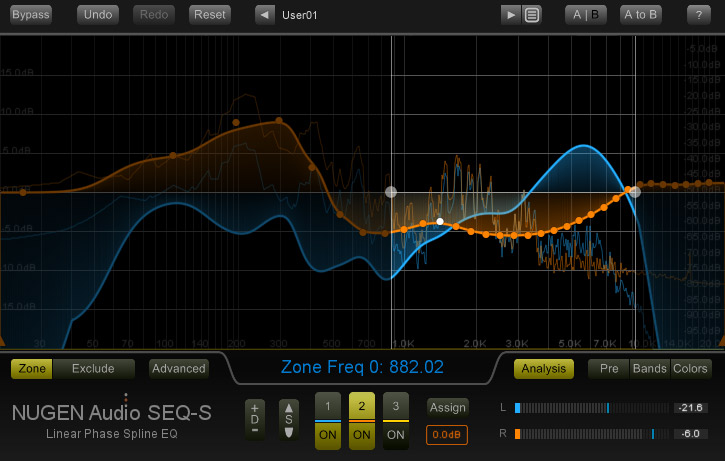 Nugen Audio's SEQ-ST Spline EQ With Filter Morphing, Midside