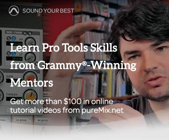 Buy Pro Tools And Get Over $100 In Free pureMix Video Tutorials
