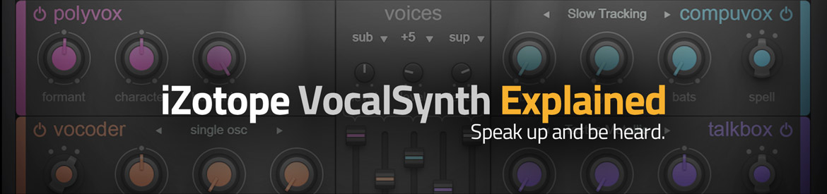 My Find Of The Week - Groove3 Tutorial Series On iZotope Vocal Synth