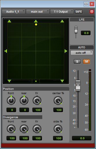 Pro Tools Surround Panner with LFE