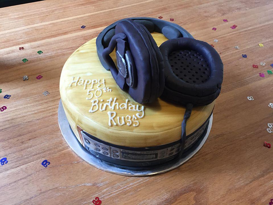 Russ Hughes 50th birthday cake