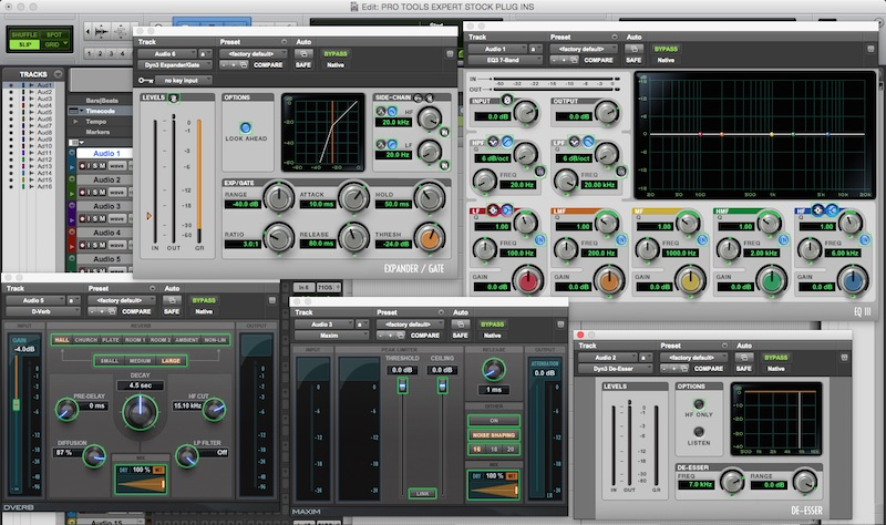 Pro Tools - My Most Used Stock Plugins - A Post Production