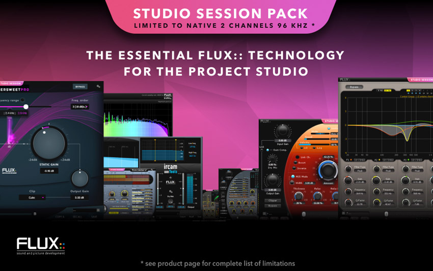 Flux:: Announce Studio Session Pack For Project Studios