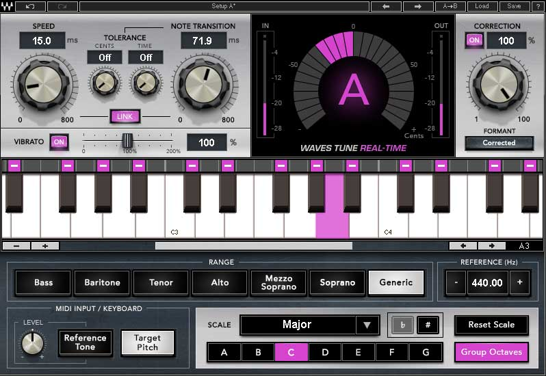 Waves Release Tune Real-Time Plugin