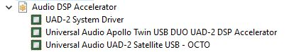 UAD Device Manager Windows