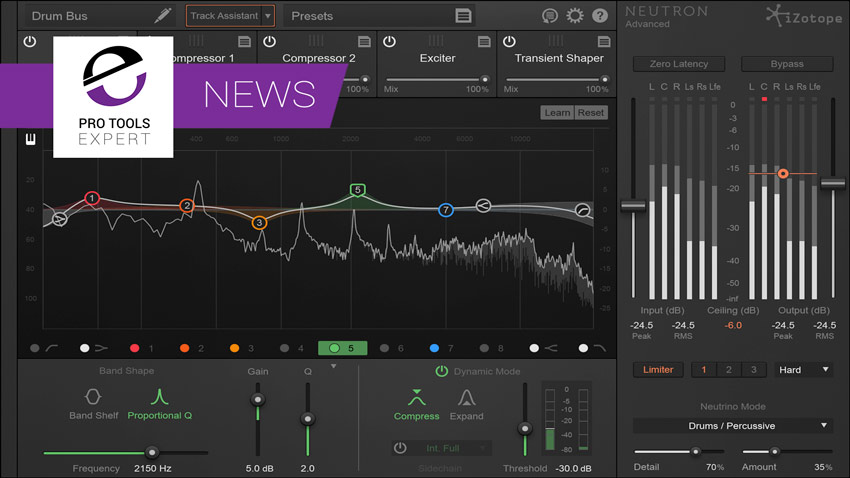 iZotope Announce Neutron Mixing Plugin | Pro Tools