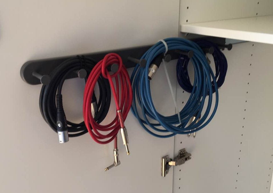 Ikea tie rack for storing cables
