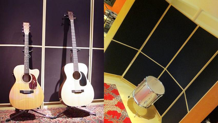 Ikea studio sound panels and gobos