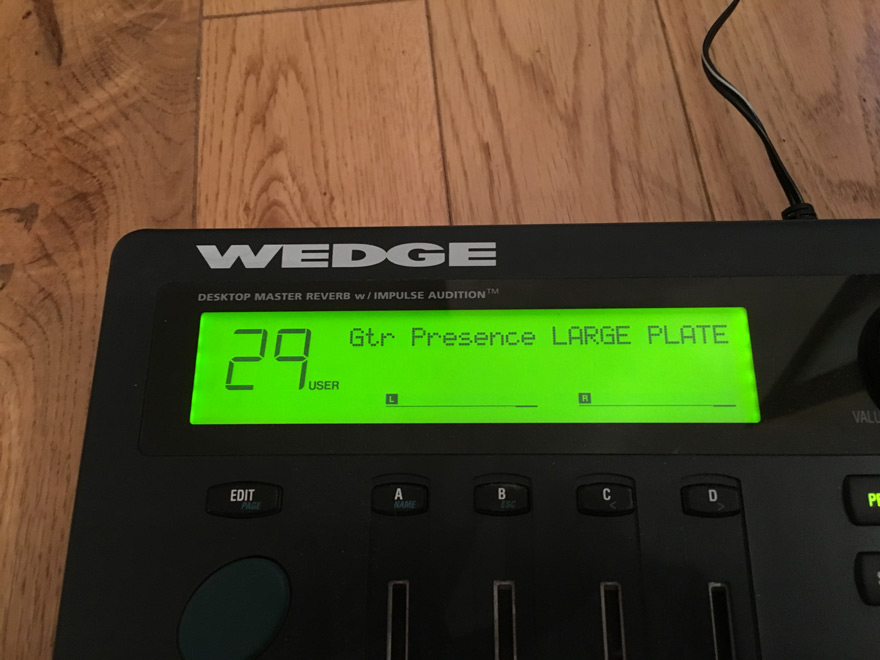 The large LED screen in the Alesis Wedge