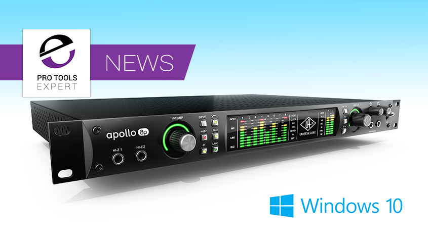 UAD Apollo Windows 10 Thunderbolt Compatibility Announced