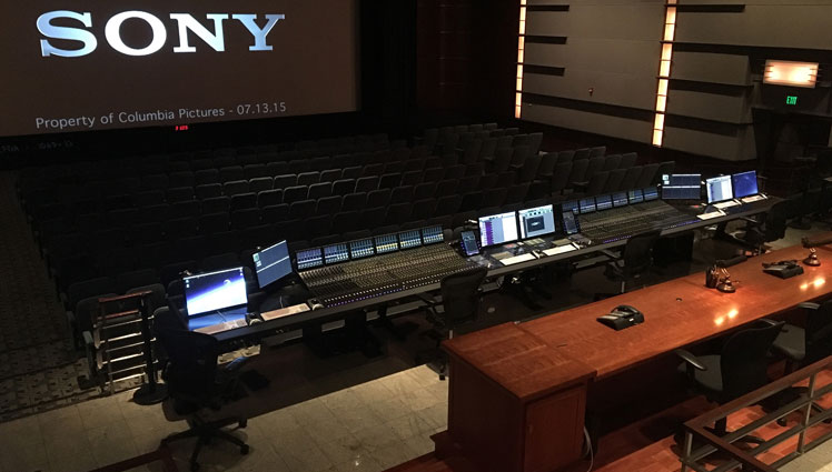 Avid Pro Tools S6 In Sony Pictures Cary Grant Theater