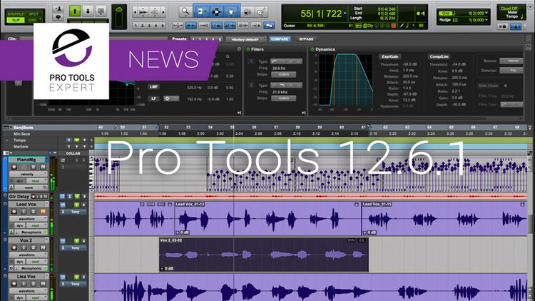 Pro Tools 12 6 1 Announced - Core Audio Support Returns | Pro Tools