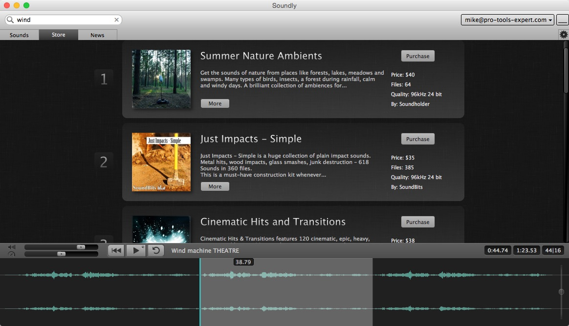 SoundBits Libraries In Soundly