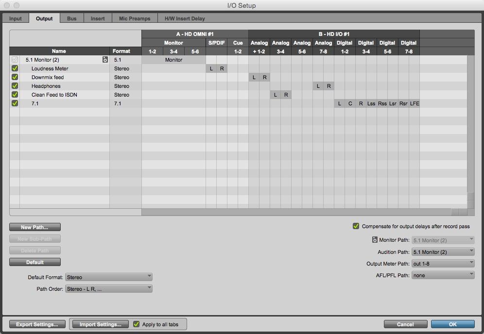I/O Window Output Tab