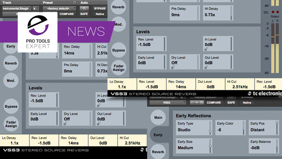 TC Electronic Release VSS3 AAX Native Reverb Plugin For Pro Tools