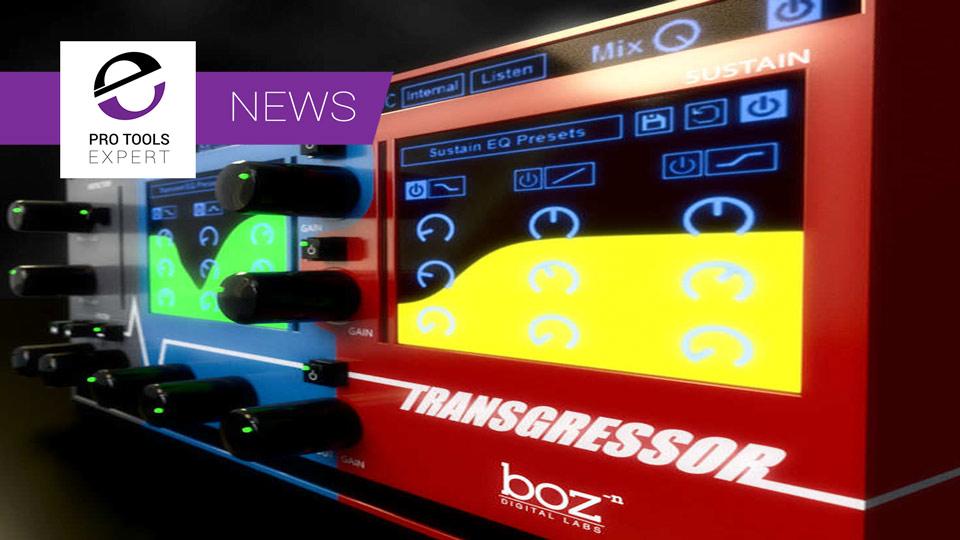 Boz Digital Labs Release Transgressor Drum Mixing Plugin