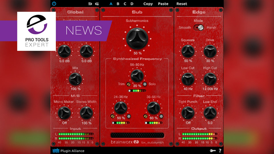 Plugin Alliance Announce Brainworx bx_subsynth Plugin