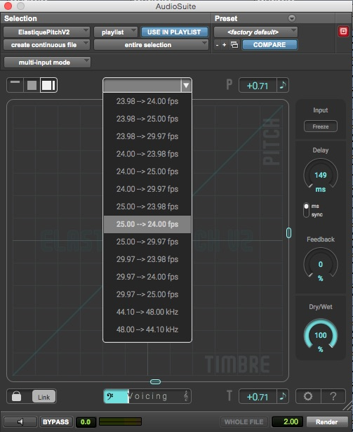 Zplane Elastique Pitch Post Production Presets