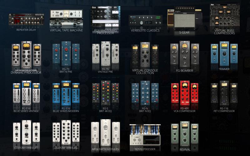The full range of plug-ins in the Slate Digital Everything Bundle.