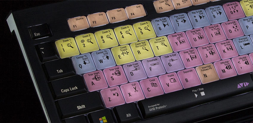 Pro Tools Backlit LogicKeyboard