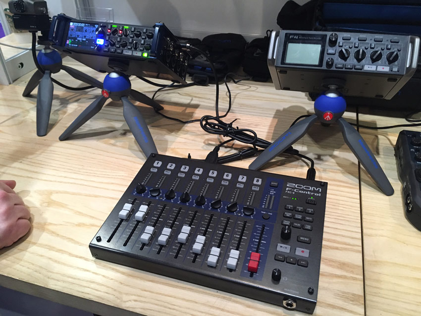 Zoom F4, F8 and remote fader pack.