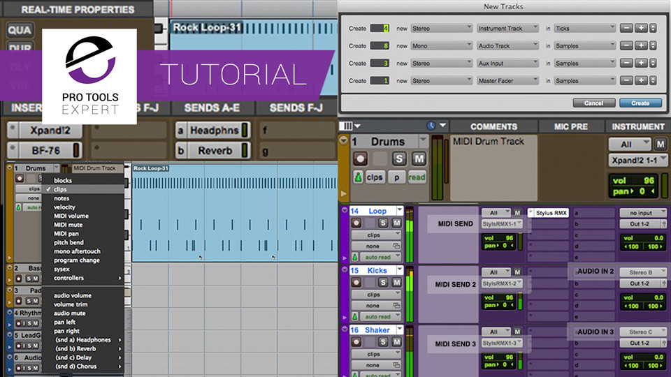 Understanding Pro Tools - Instrument Tracks