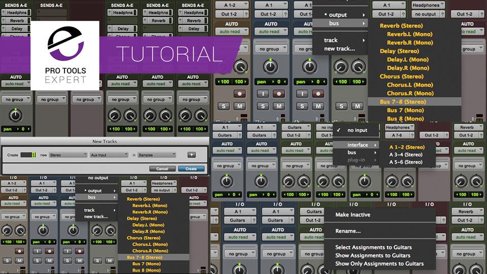Understanding Pro Tools - Aux Tracks