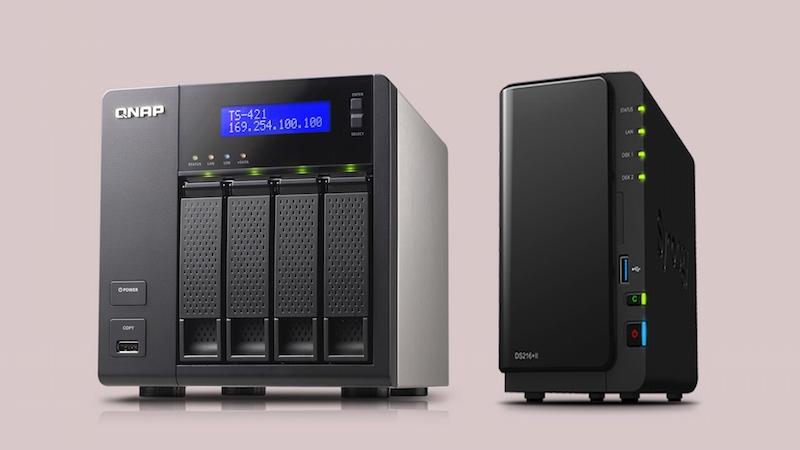 Qnap TS-421 and Synology DS213+