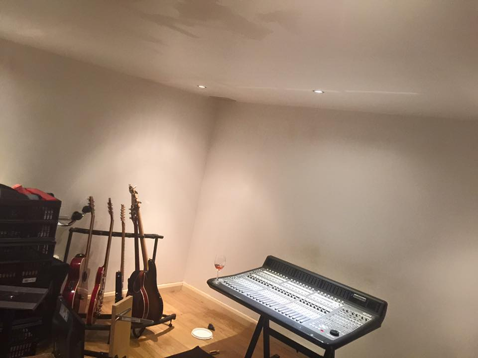 Acoustic Panels Removed - Walls Easily Repaired