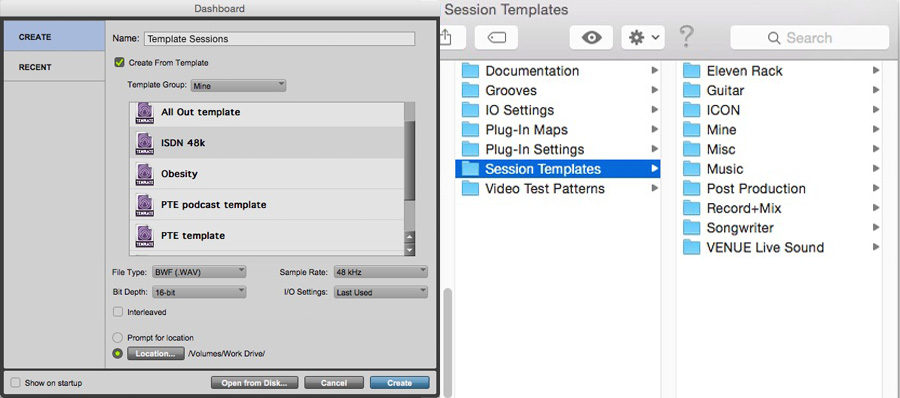 Session Templates In Pro Tools