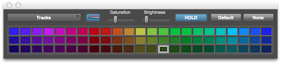 Colour Palletee in Pro Tools