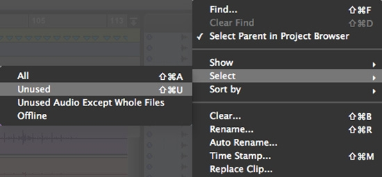 Clip List Management in Pro Tools