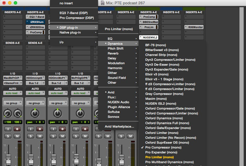 Choosing favourite plug-ins in Pro Tools