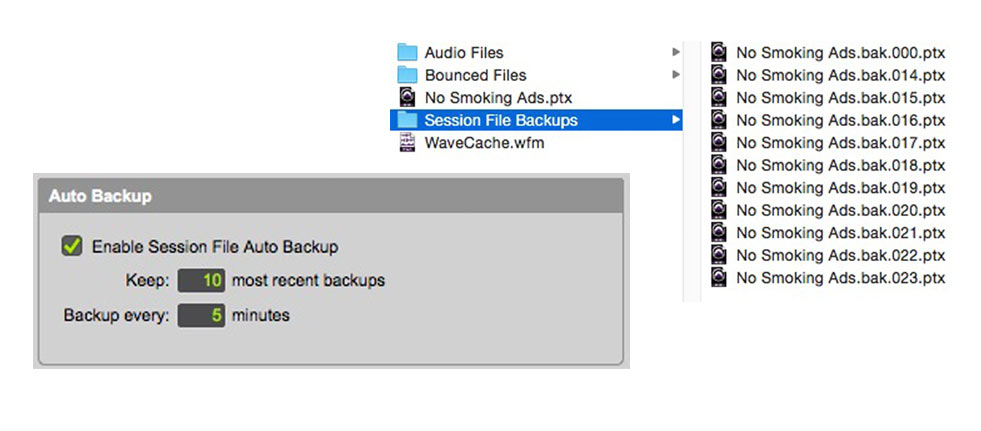 Use Session Backup Feature
