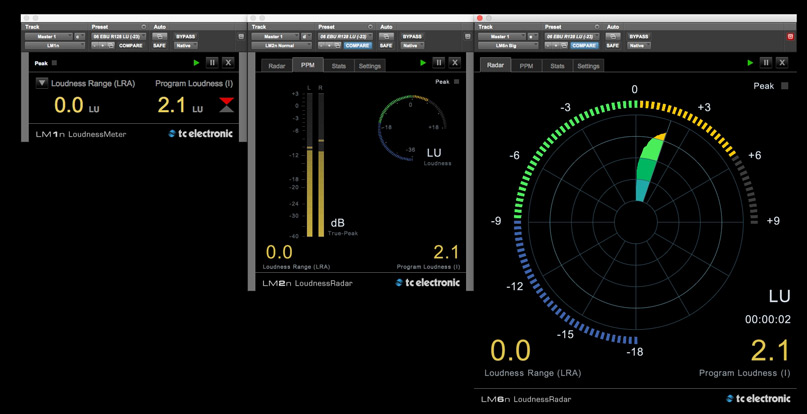 TC electronic LM Series Comparison