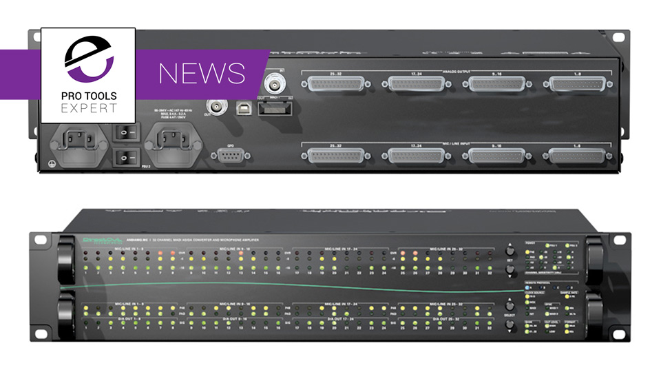 Aspen Media Show 32 Channel Mic Preamp With MADI I/O And Pro Tools Control