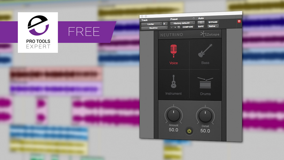 Friday Free Plug-in - iZotope Neutrino Spectral Shaping Plug-in