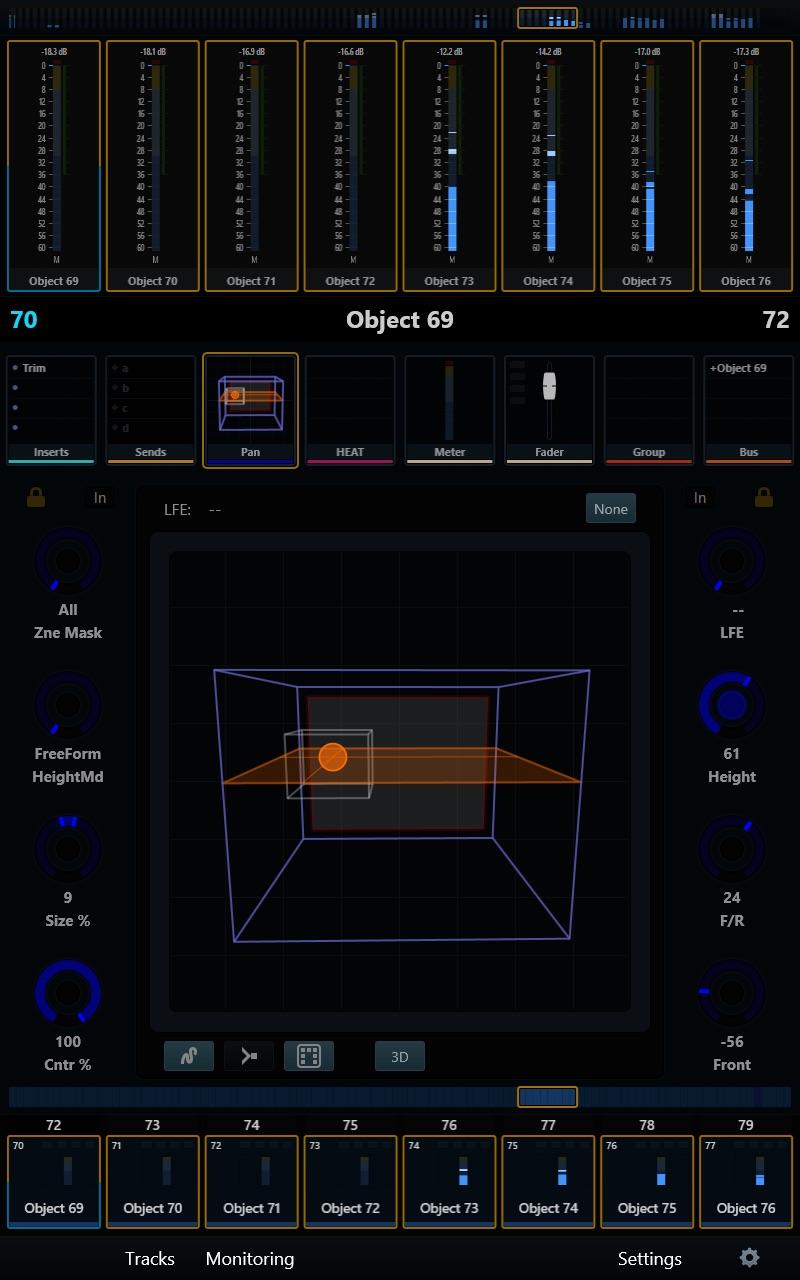 Avid S6 3D Panner