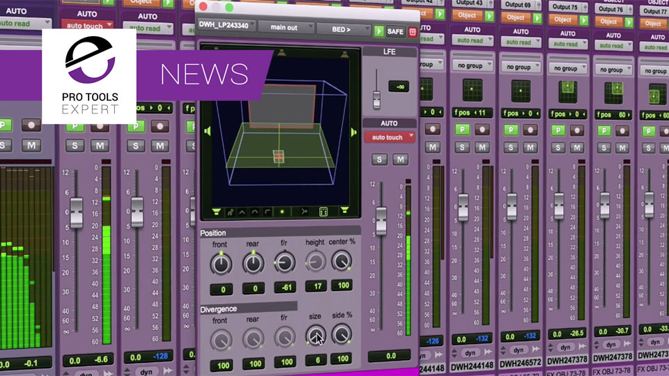 Updates On Plug-ins for Use With New Immersive Track Formats In Pro Tools 12.8HD