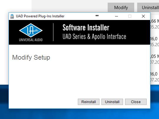 UAD Software Installer