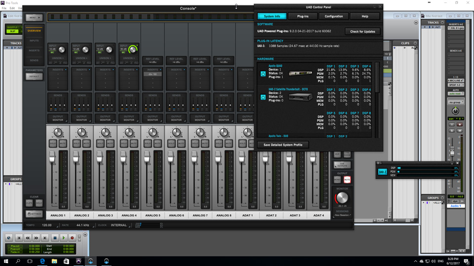 Working UAD Software On Windows 10 Thunderbolt 1 Pro Tools System