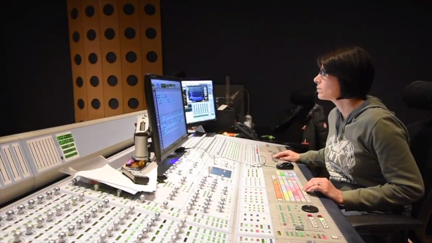 Finished dubbing suite at Flix Facilities at Media City